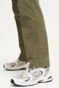 Оптом Спортивные брюки Valianly мужские хаки цвета 93435Kh в Екатеринбурге, фото 10