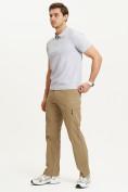 Оптом Спортивные брюки Valianly мужские бежевого цвета 93435B в Екатеринбурге, фото 3