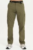 Оптом Спортивные брюки Valianly мужские хаки цвета 93435Kh в Екатеринбурге