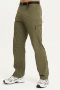 Оптом Спортивные брюки Valianly мужские хаки цвета 93435Kh в Екатеринбурге, фото 2