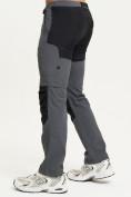 Оптом Спортивные брюки и шорты Valianly мужские темно-синего цвета 93438TS, фото 3