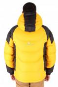 Оптом Куртка зимняя мужская желтого цвета 9406J в  Красноярске, фото 3