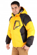 Оптом Куртка зимняя мужская желтого цвета 9406J в  Красноярске, фото 2