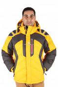 Оптом Куртка зимняя мужская желтого цвета 9439J в Екатеринбурге, фото 2