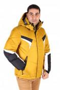Оптом Куртка зимняя мужская горчичного цвета 9440G, фото 3