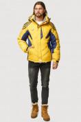 Оптом Куртка зимняя мужская желтого цвета 9441J в Нижнем Новгороде