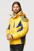 Оптом Куртка зимняя мужская желтого цвета 9441J в Нижнем Новгороде, фото 3