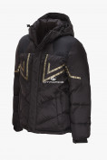 Оптом Куртка зимняя мужская черного цвета 9449Ch в Нижнем Новгороде, фото 2