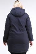 Оптом Куртка зимняя женская молодежная темно-синего цвета 95-906_18TS в Казани, фото 4