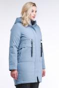 Оптом Куртка зимняя женская молодежная серого цвета 95-906_2Sr в Казани