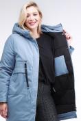 Оптом Куртка зимняя женская молодежная серого цвета 95-906_2Sr в Казани, фото 7