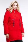 Оптом Куртка зимняя женская молодежная красного цвета 95-906_4Kr в Екатеринбурге, фото 3