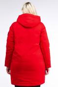 Оптом Куртка зимняя женская молодежная красного цвета 95-906_4Kr в Екатеринбурге, фото 4