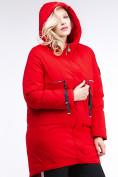 Оптом Куртка зимняя женская молодежная красного цвета 95-906_4Kr в Казани, фото 5