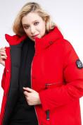 Оптом Куртка зимняя женская молодежная красного цвета 95-906_4Kr в Казани, фото 7