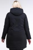 Оптом Куртка зимняя женская молодежная черного цвета 95-906_701Ch в Екатеринбурге, фото 4