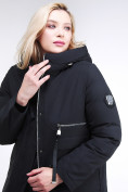 Оптом Куртка зимняя женская молодежная черного цвета 95-906_701Ch в Екатеринбурге, фото 6