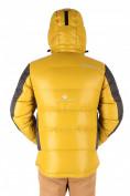 Оптом Куртка пуховик мужская горчичного цвета 9573G, фото 3