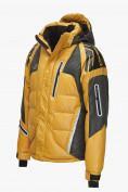 Оптом Куртка пуховик мужская горчичного  цвета 9689G в Нижнем Новгороде, фото 2