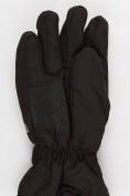 Оптом Перчатка горнолыжная зимняя мужская черного цвета  973Ch в Новосибирске, фото 3