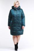 Оптом Куртка зимняя женская классическая темно-зеленого цвета 98-920_13TZ в Казани, фото 2