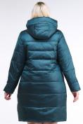 Оптом Куртка зимняя женская классическая темно-зеленого цвета 98-920_13TZ в Казани, фото 5