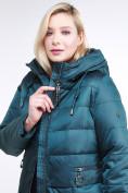 Оптом Куртка зимняя женская классическая темно-зеленого цвета 98-920_13TZ в Казани, фото 6
