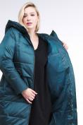 Оптом Куртка зимняя женская классическая темно-зеленого цвета 98-920_13TZ в Казани, фото 7