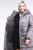 Оптом Куртка зимняя женская классическая коричневого цвета 98-920_48K, фото 6
