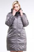 Оптом Куртка зимняя женская классическая коричневого цвета 98-920_48K, фото 3