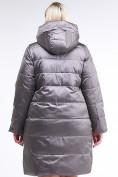 Оптом Куртка зимняя женская классическая коричневого цвета 98-920_48K, фото 4