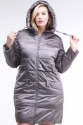 Оптом Куртка зимняя женская классическая коричневого цвета 98-920_48K, фото 5