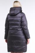 Оптом Куртка зимняя женская классическая темно-серого цвета 98-920_58TC в  Красноярске, фото 4