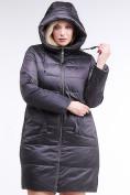 Оптом Куртка зимняя женская классическая темно-серого цвета 98-920_58TC в  Красноярске, фото 5