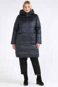 Оптом Куртка зимняя женская классическая болотного цвета 98-920_122Bt в  Красноярске