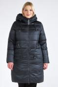Оптом Куртка зимняя женская классическая болотного цвета 98-920_122Bt в Казани, фото 2
