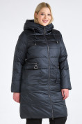 Оптом Куртка зимняя женская классическая болотного цвета 98-920_122Bt в Казани, фото 3