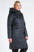 Оптом Куртка зимняя женская классическая болотного цвета 98-920_122Bt в Казани, фото 4