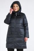 Оптом Куртка зимняя женская классическая болотного цвета 98-920_122Bt в Казани, фото 7