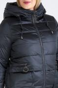 Оптом Куртка зимняя женская классическая болотного цвета 98-920_122Bt в  Красноярске, фото 8
