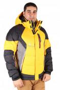 Оптом Куртка пуховик мужская желтого цвета 9855J в  Красноярске