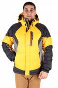 Оптом Куртка пуховик мужская желтого цвета 9855J в  Красноярске, фото 2