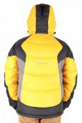 Оптом Куртка пуховик мужская желтого цвета 9855J в  Красноярске, фото 3