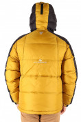Оптом Куртка пуховик мужская горчичного  цвета 9872G в Нижнем Новгороде, фото 3