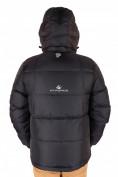 Оптом Куртка пуховик мужская черного цвета 9872Ch в Казани, фото 3