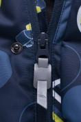 Оптом Горнолыжный костюм подростковый для мальчика темно-синего цвета 8915TS в Нижнем Новгороде, фото 8