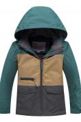 Оптом Горнолыжный костюм подростковый для мальчика зеленого цвета 8929Z в Казани, фото 2