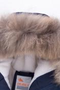 Оптом Куртка парка зимняя подростковая для мальчика темно-синего цвета 8936TS в Казани, фото 3