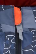 Оптом Горнолыжный костюм подростковый для мальчика цвета хаки 8923Kh, фото 8