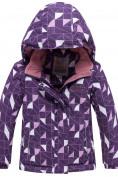 Оптом Горнолыжный костюм детский фиолетового цвета 8912F в  Красноярске, фото 2